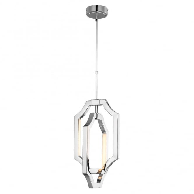 Feiss AUDRIE contemporary kinetic mobile style chrome LED ceiling pendant (small)