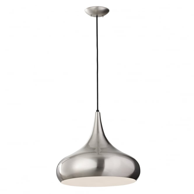 BESO contemporary brushed steel ceiling pendant