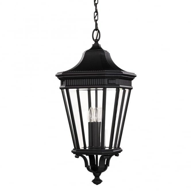 Large Black Traditional Outdoor Hanging Lantern   IP23