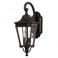 COTSWOLD LANE traditional bronze exterior wall lantern (medium)
