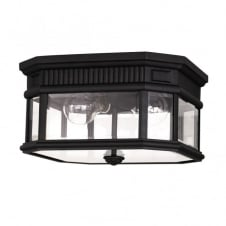 COTSWOLD LANE traditional flush mount outdoor light (black)