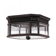 COTSWOLD LANE traditional flush mount outdoor light (bronze)