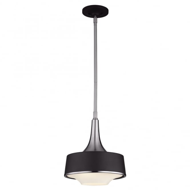 Feiss HOLLOWAY contemporary mini ceiling pendant in textured black & steel finish