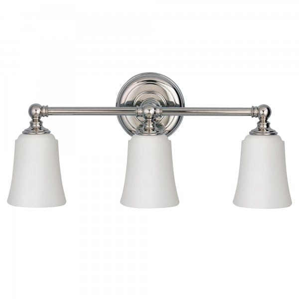 Modern Classic 3lt Over Bathroom Mirror Light In Polished Chrome