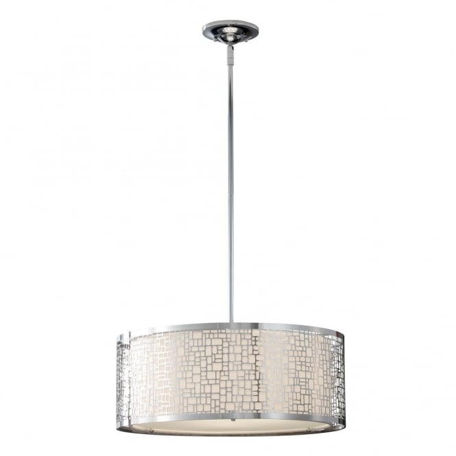 Feiss JOPLIN contemporary geometric ceiling pendant in polished chrome
