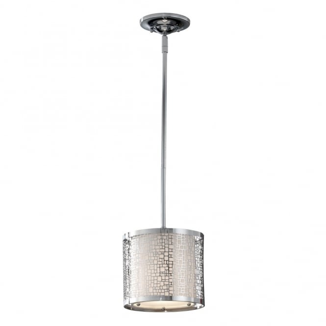 Feiss JOPLIN contemporary geometric mini ceiling pendant in polished chrome