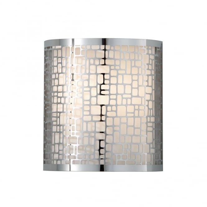 Feiss JOPLIN contemporary geometric wall light in polished chrome