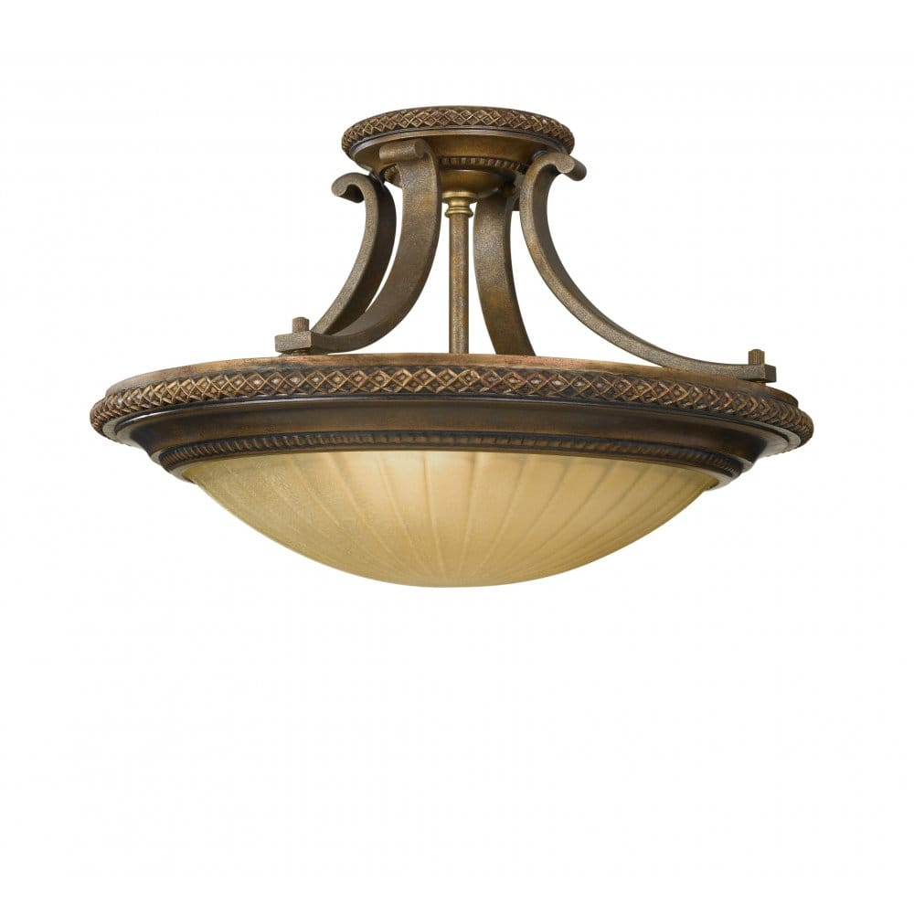 Bronze Uplighter Ceiling Light For Low Ceilings
