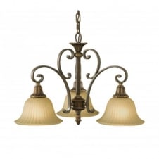 KELHAM HALL traditional 3 light ceiling pendant, bronze