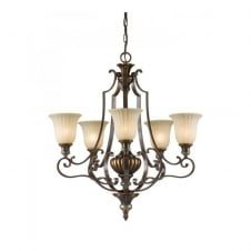 KELHAM HALL traditional bronze gold chandelier