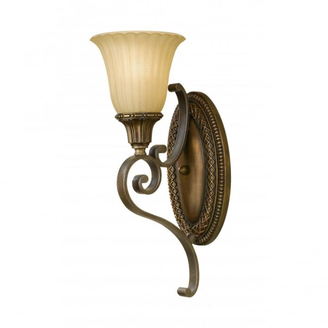 Feiss KELHAM HALL traditional bronze gold wall light