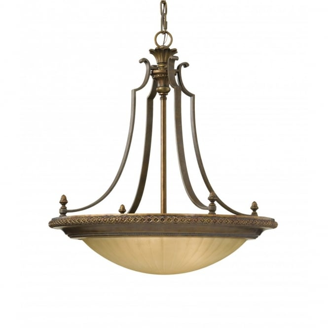Feiss KELHAM HALL traditional upligher ceiling pendant on chain