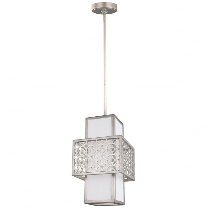 KENNEY single mini ceiling pendant in a sunrise silver finish