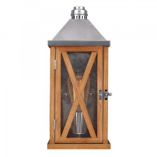 Rustic exteiror wooden wall lantern ip44 rated for Wooden garden lanterns