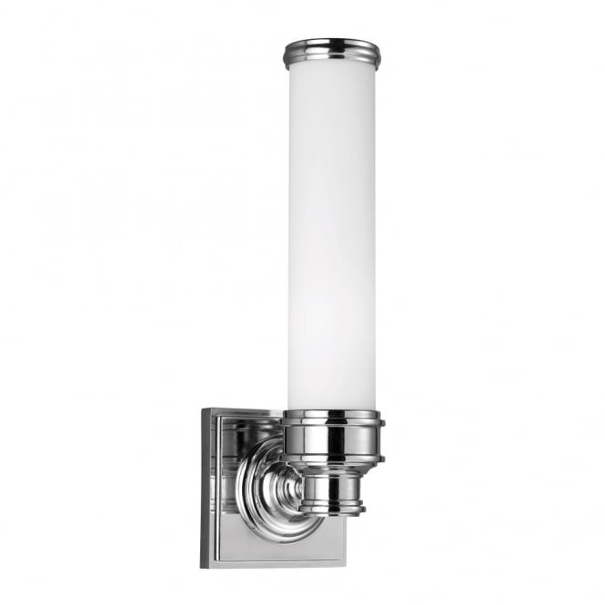 PAYNE modern classic design bathroom wall light in polished chrome
