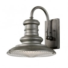 REDDING STATION vintage outdoor wall light in tarnished finish (medium)