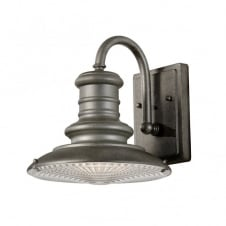 REDDING STATION vintage outdoor wall light in tarnished finish (small)