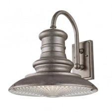 REDDING STATION vintage outdoor wall light with tarnished finish (large)