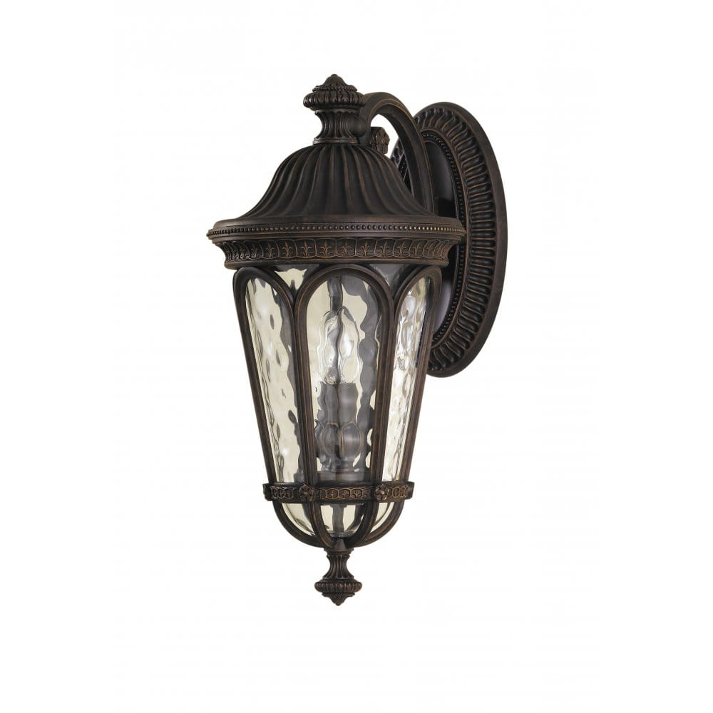 Traditional Garden Wall Lights : Regent Court Traditional Outdoor Wall Light in Walnut Aluminium