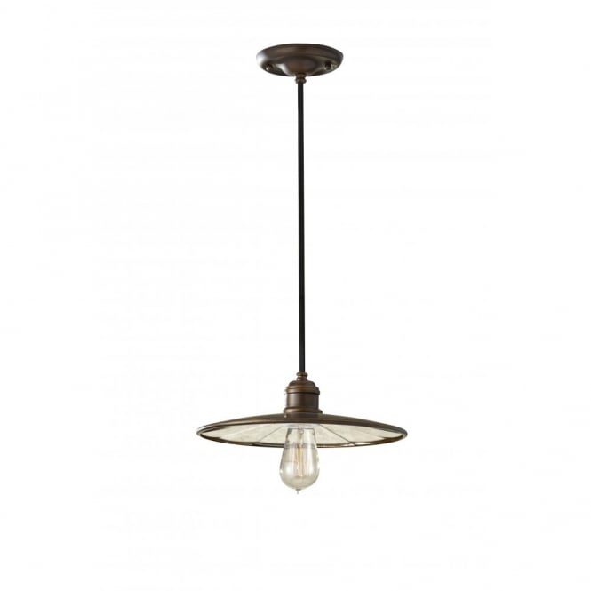 Feiss URBAN RENEWAL industrial style bronze mini ceiling pendant light