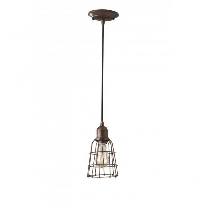 Feiss URBAN RENEWAL industrial style bronze mini pendant light