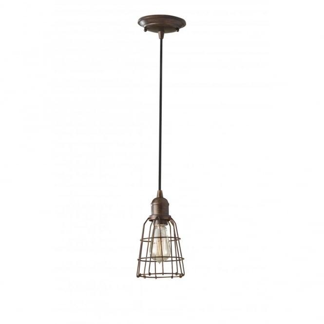 Small Industrial Style Mini Pedant Light Bronze Inspecion
