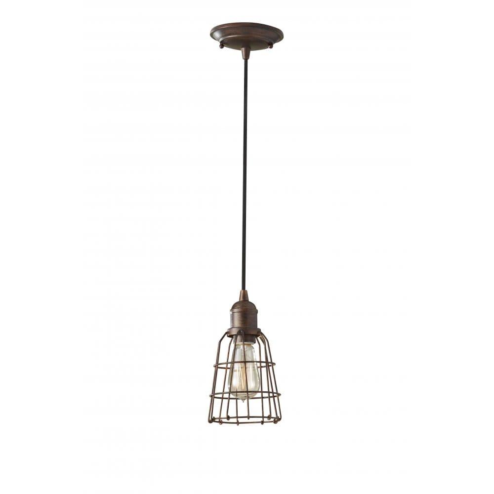 Industrial Mini Pendant Light: Small Industrial Style Mini Pedant Light, Bronze Inspecion