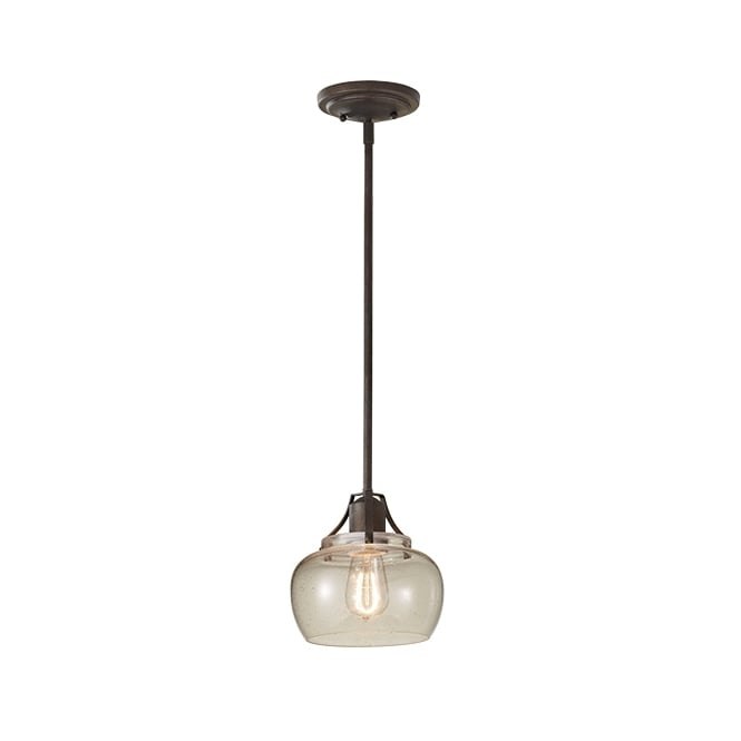 Feiss URBAN RENEWAL industrial style mini rustic iron ceiling pendant light