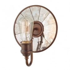 URBAN RENEWAL vintage wall light in bronze with reflector backplate