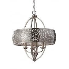 brushed steel mosaic effect chandelier