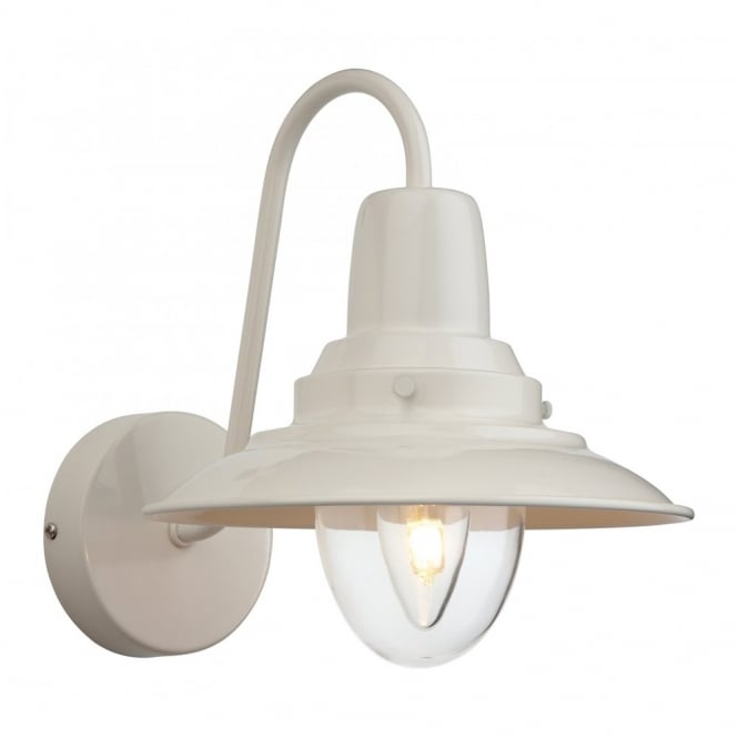 Fisherman single retro wall light in cream finish