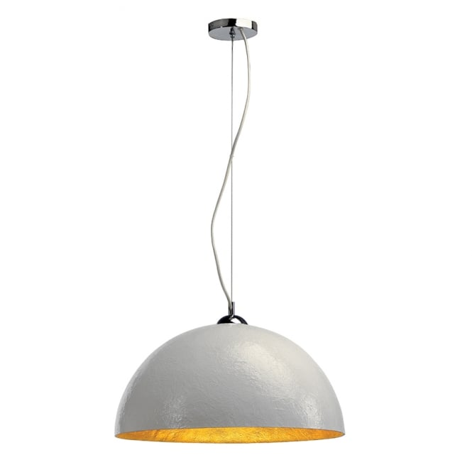 FORCHINI large white ceiling pendant light