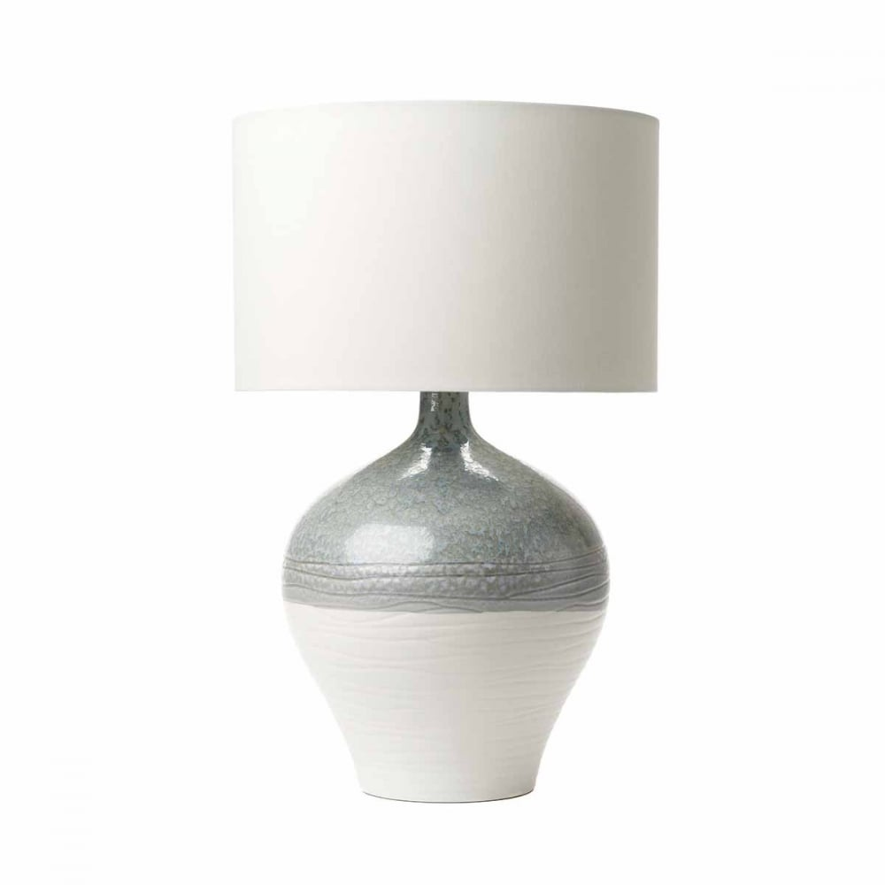 Two tone ceramic table lamp base