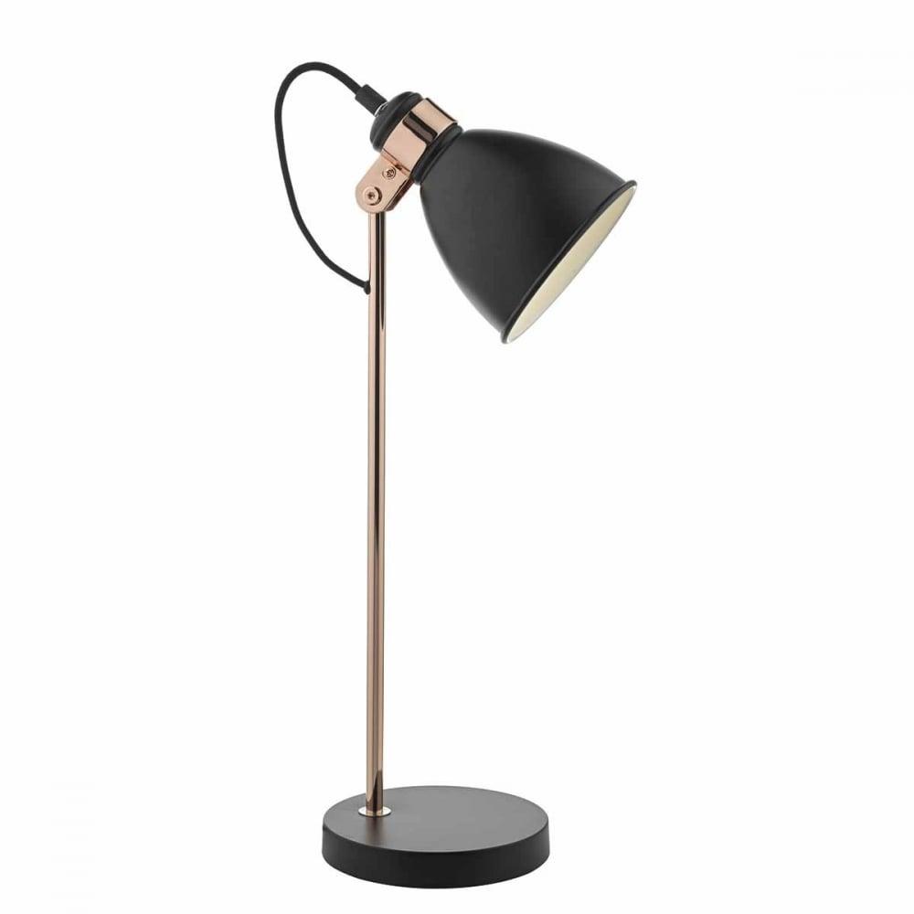 Frederick Retro Black And Copper Desk Lamp