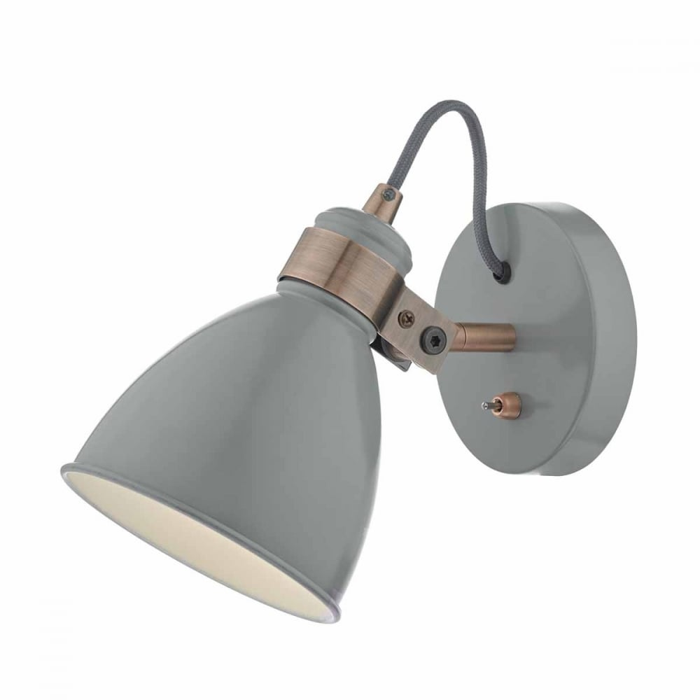 Frederick retro grey and copper wall spotlight retro grey and copper wall spotlight aloadofball Image collections