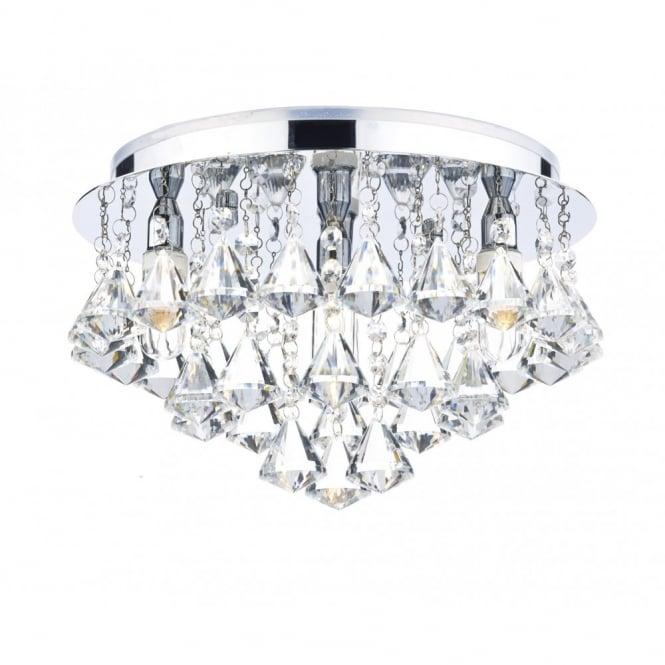 sale retailer 6b618 9641b FRINGE decorative polished chrome & crystal glass bathroom ceiling light