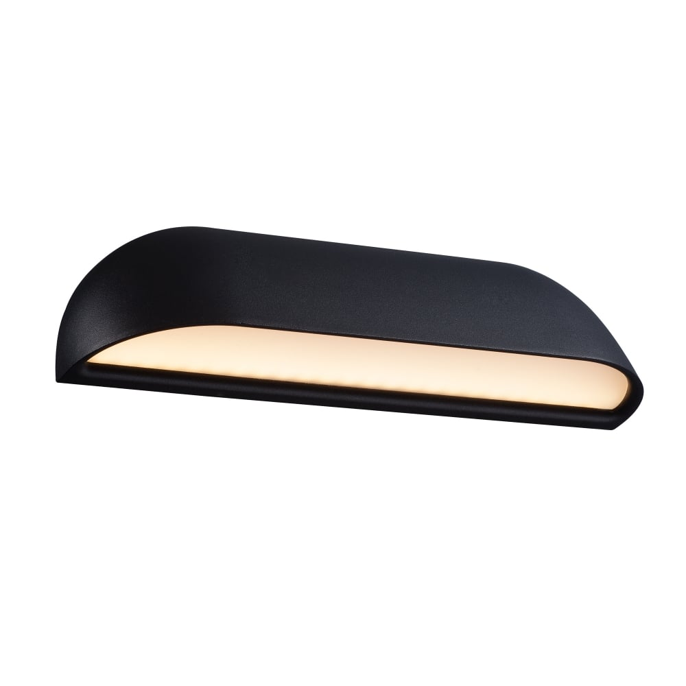 Contemporary LED Exterior Wall Light In Black