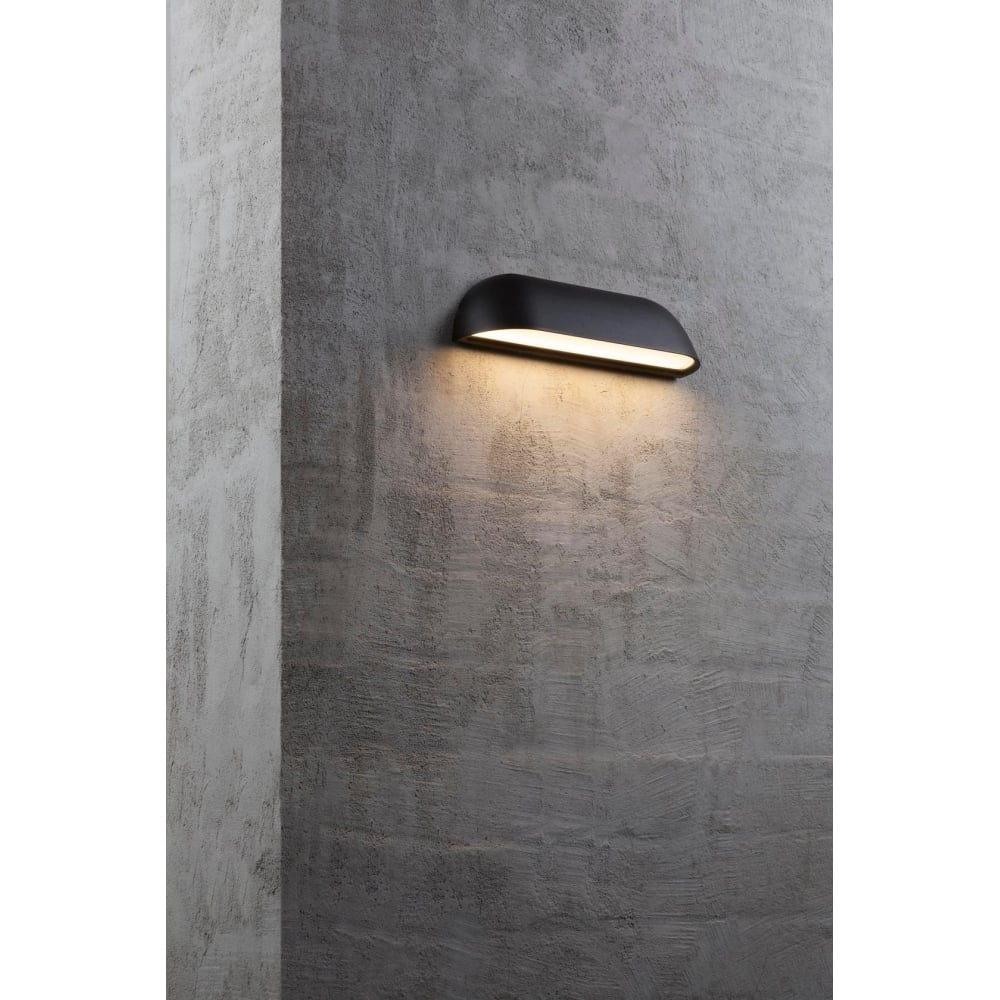 Modern led outdoor wall washer light finished in black contemporary led exterior wall light in black aloadofball Choice Image