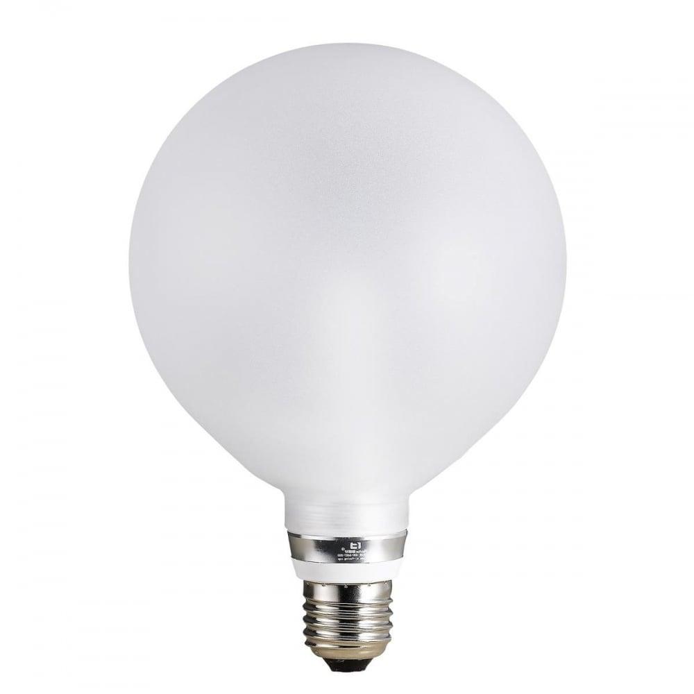 12 5cm led opal white globe bulb 5 watt es e27