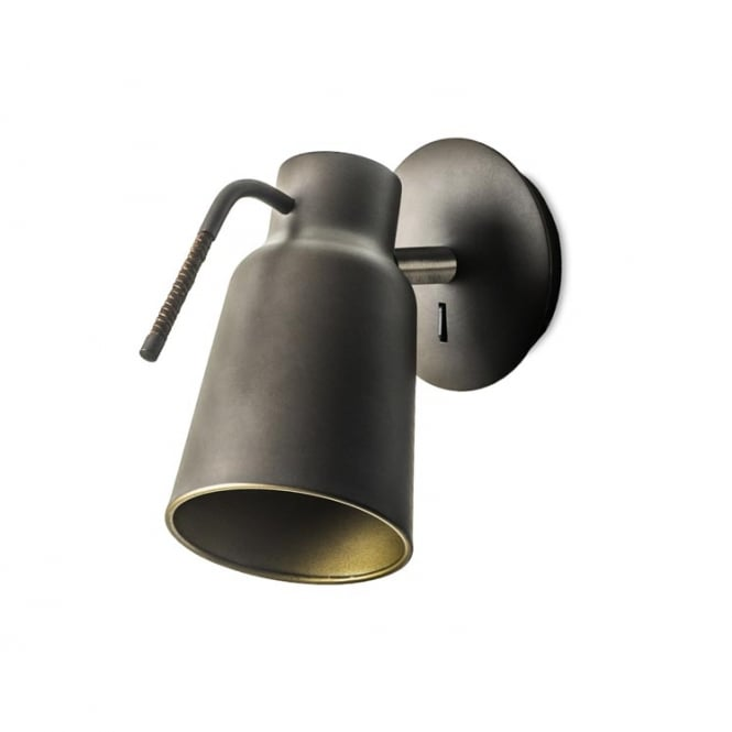 FUNK contemporary industrial dark brown single wall light