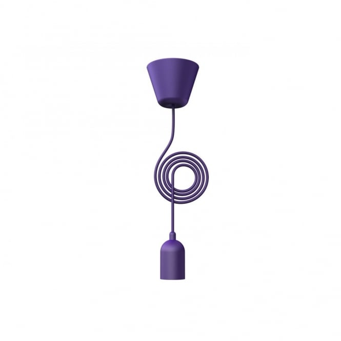 Funk purple pendant set with coloured cord funk purple pendant light set cord aloadofball Images