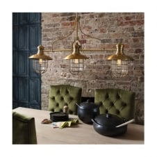 vintage industrial bar 3 light ceiling bar pendant