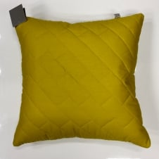 chartreuse quilted cushion