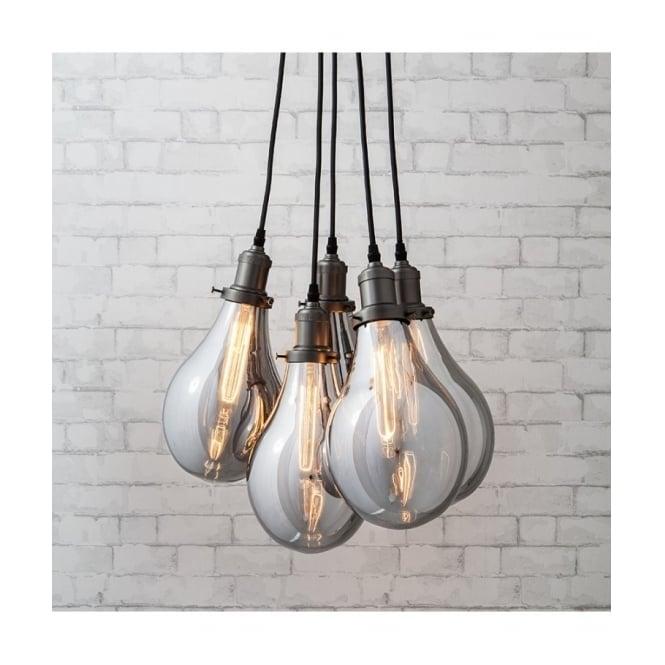 Industrial Lighting Hamilton: Vintage Filament Bulb Design Ceiling Cluster Pendant