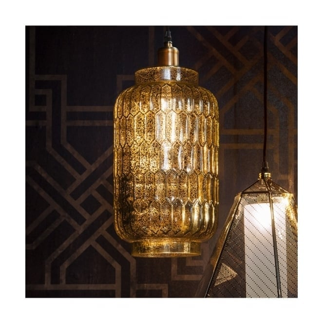 Gallery Interiors MACKENNA bronze speckled glass ceiling pendant