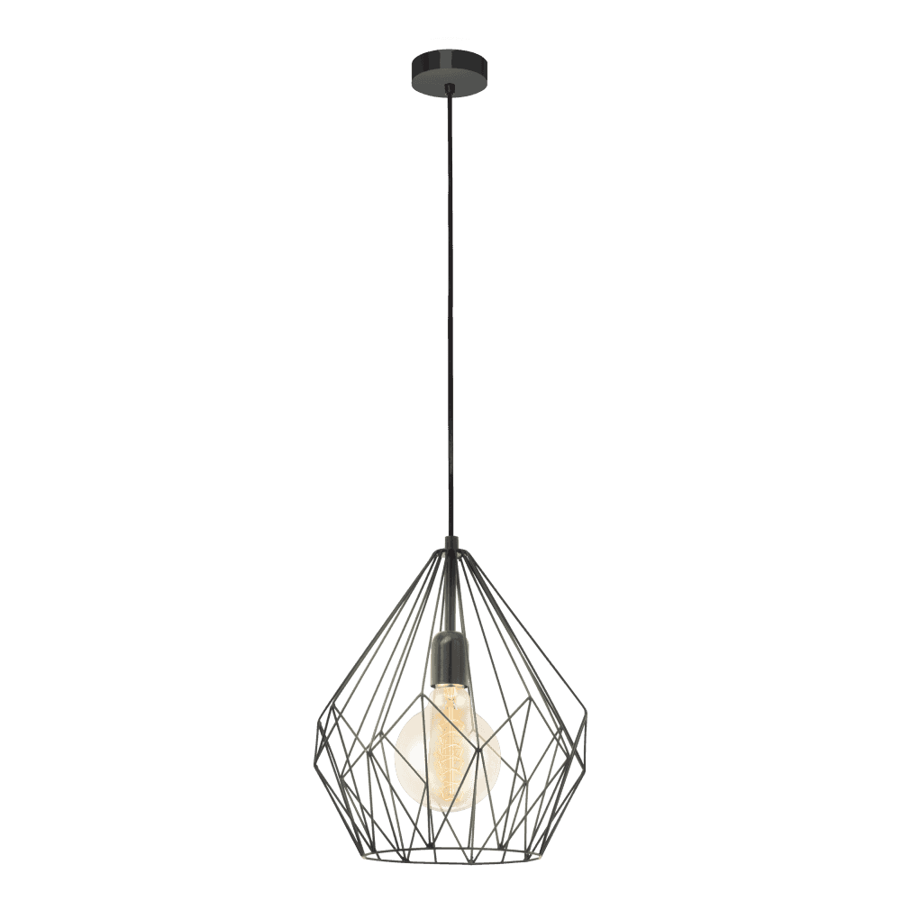 Modern Retro Design Black Frame Ceiling Pendant Light