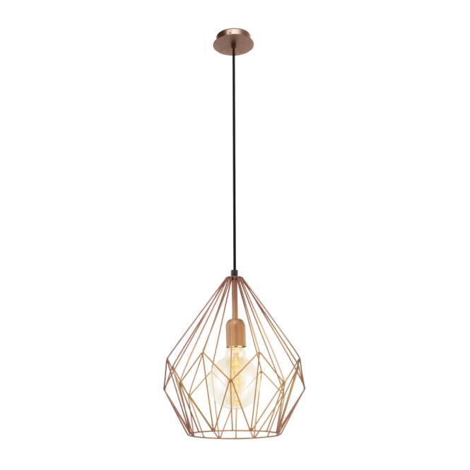 Modern Retro Design Copper Frame Ceiling Pendant Light