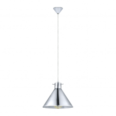 GLASSE single smoked glass and chrome ceiling pendant