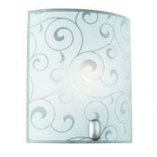 BIKE glass wall light with frosted glass swirl d̩cor