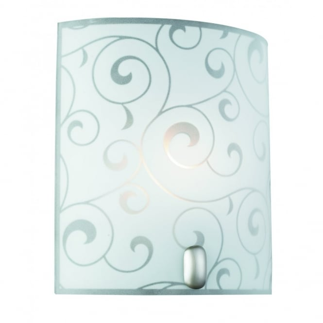 BIKE glass wall light with frosted glass swirl decor